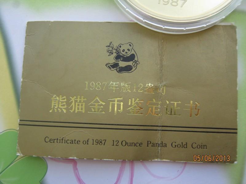 china 1987 panda 12 oz 999er gold nur 2554 st ck gepr gt ebay. Black Bedroom Furniture Sets. Home Design Ideas
